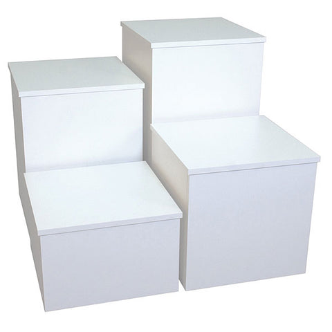 Knock Down Pedestal, Square - white