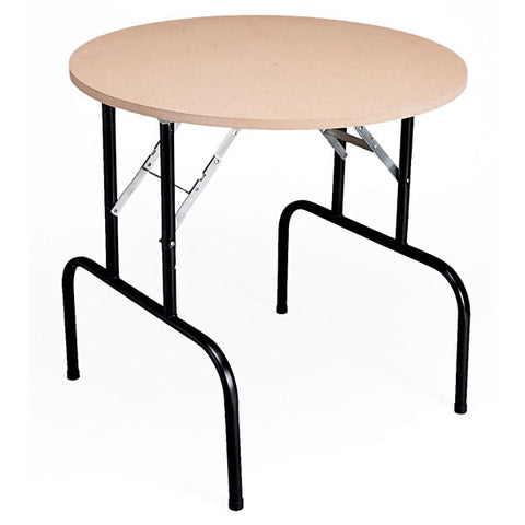 Display Table with Folding Legs, high - particleboard top