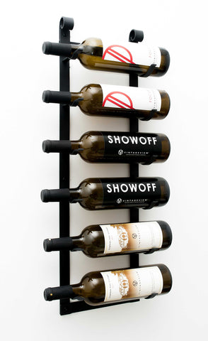 Le Rustique Wall Mounted Metal Wine Rack (6 bottles)