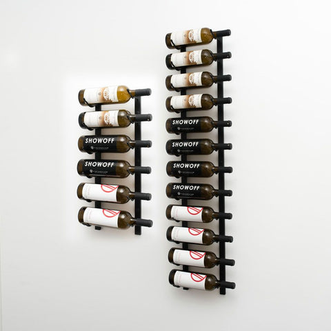 W Series 6′ Wall Mounted Metal Wine Rack Kit(18-Bottles)