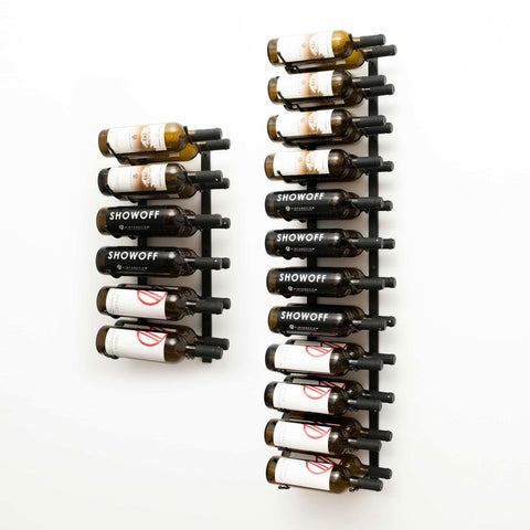 W Series 6′ Wall Mounted Metal Wine Rack Kit(36-Bottles)
