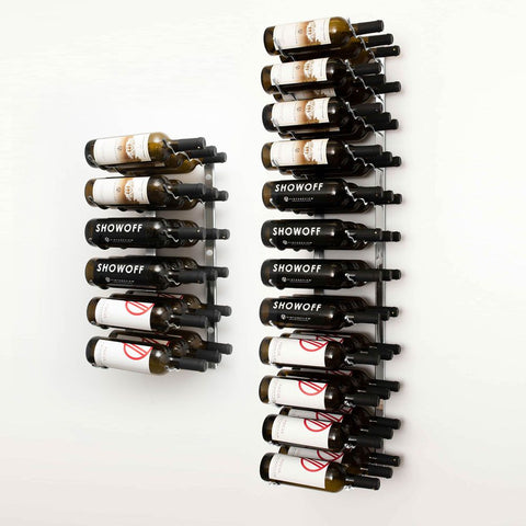 W Series 6′ Wall Mounted Metal Wine Rack Kit(54-Bottles)