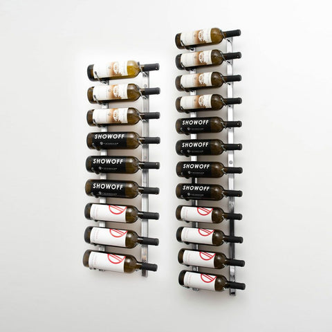 W Series 7′ Wall Mounted Metal Wine Rack Kit(21-Bottles)