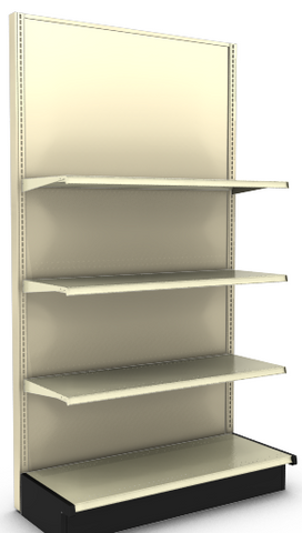 "Beige Wall Unit Single Sided 48"" Height"