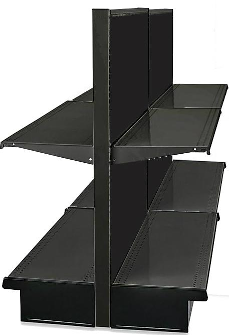 "Black Island Lozier Gondola Unit Double Sided 48"" Height"