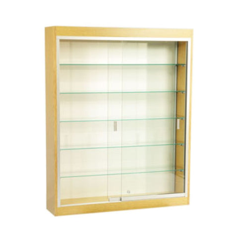 Large Glass Display Shadowbox with Five Shelves