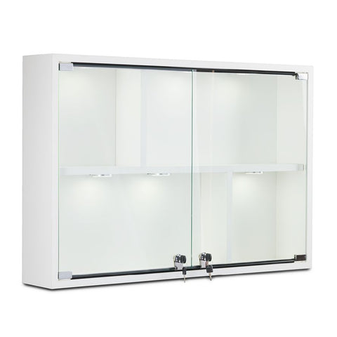 Contemporary Wall Display Case with Shelves