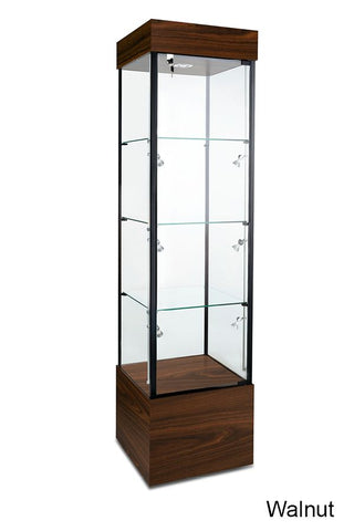 Choice Tower Glass Display Case with Three Shelves
