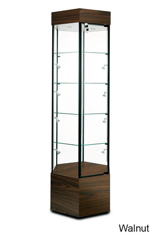 Marvelous Tower Display Case with Wheel