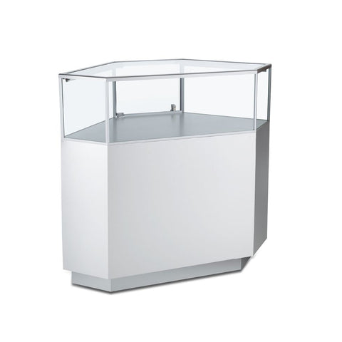 Stylish Corner Angled Jewelry Display Case