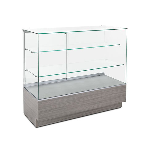Retail Glass Counter Display Case with Two Shelves
