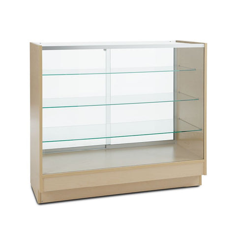 Sturdy Glass Jewelry Display Showcase with Three Shelves