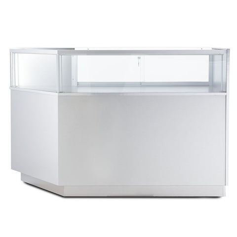 Splendid Corner Jewelry Glass Display Case