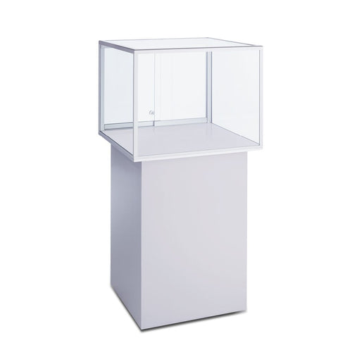 Splendid Square Glass Pedestal Display Case