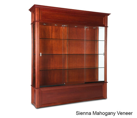 Fine Classic Wooden Floor Display Case With 3 8 Thick Glass Home Interior And Landscaping Ferensignezvosmurscom