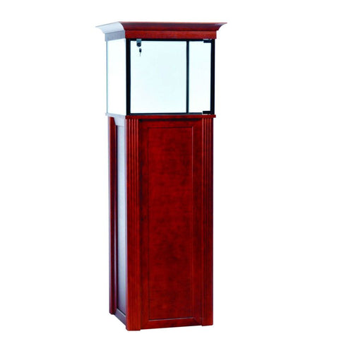 Classical Wood Pedestal Display Showcase with Molding