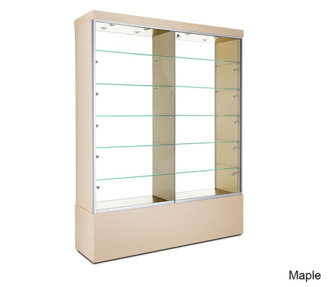 Tall Glass Floor Display Cabinet With Solid Sides
