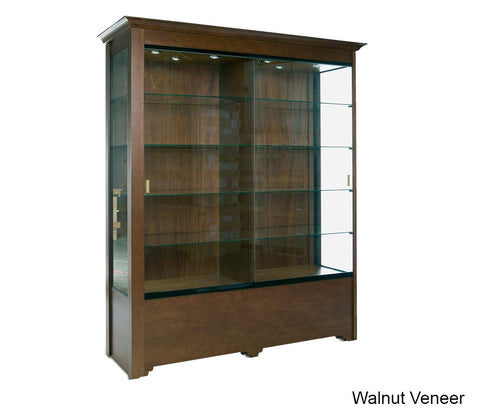 Magnificent Wooden Floor Showcase with Divider