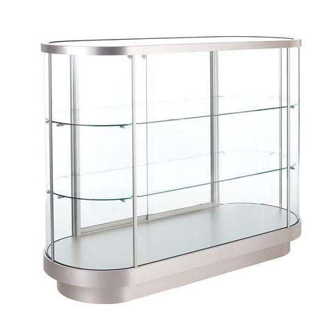 Magnificent Oval Island Counter Display Case