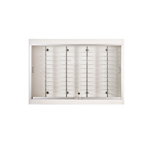 Wall Eye-Wear Display Case with Eyeglass Rods