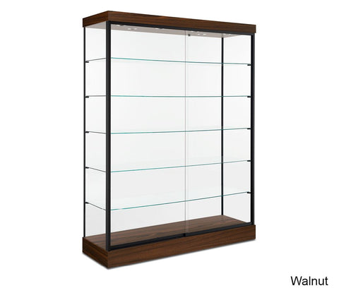 Expansive Modern Glass Display Cabinet with Five Shelves
