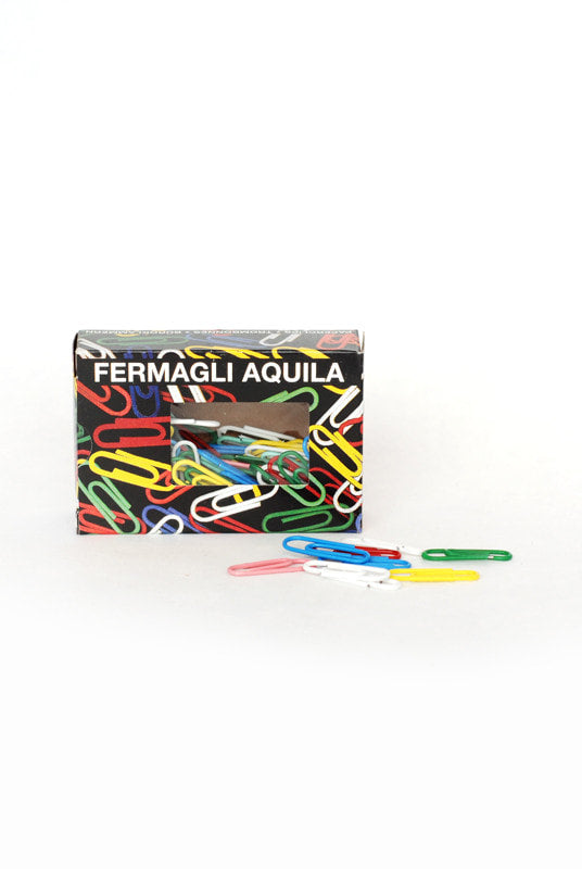 Mondial Paperclips - 100 pieces - Mixed Colours