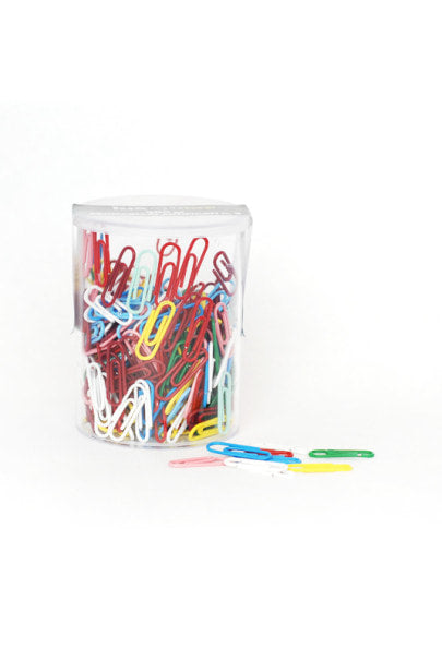 Mondial Paperclips - 350 pieces - Mixed Colours