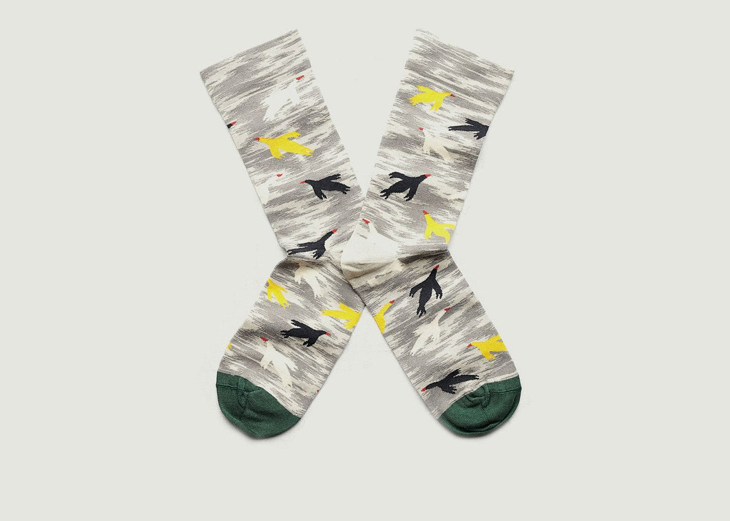 Bonne-Maison-Birds-Cotton-Socks-Mimosa-Small
