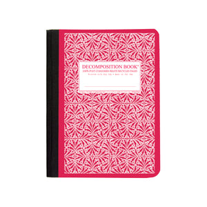 Decomposition - Seconds - Notebook - Ruled - Large - Red Tile
