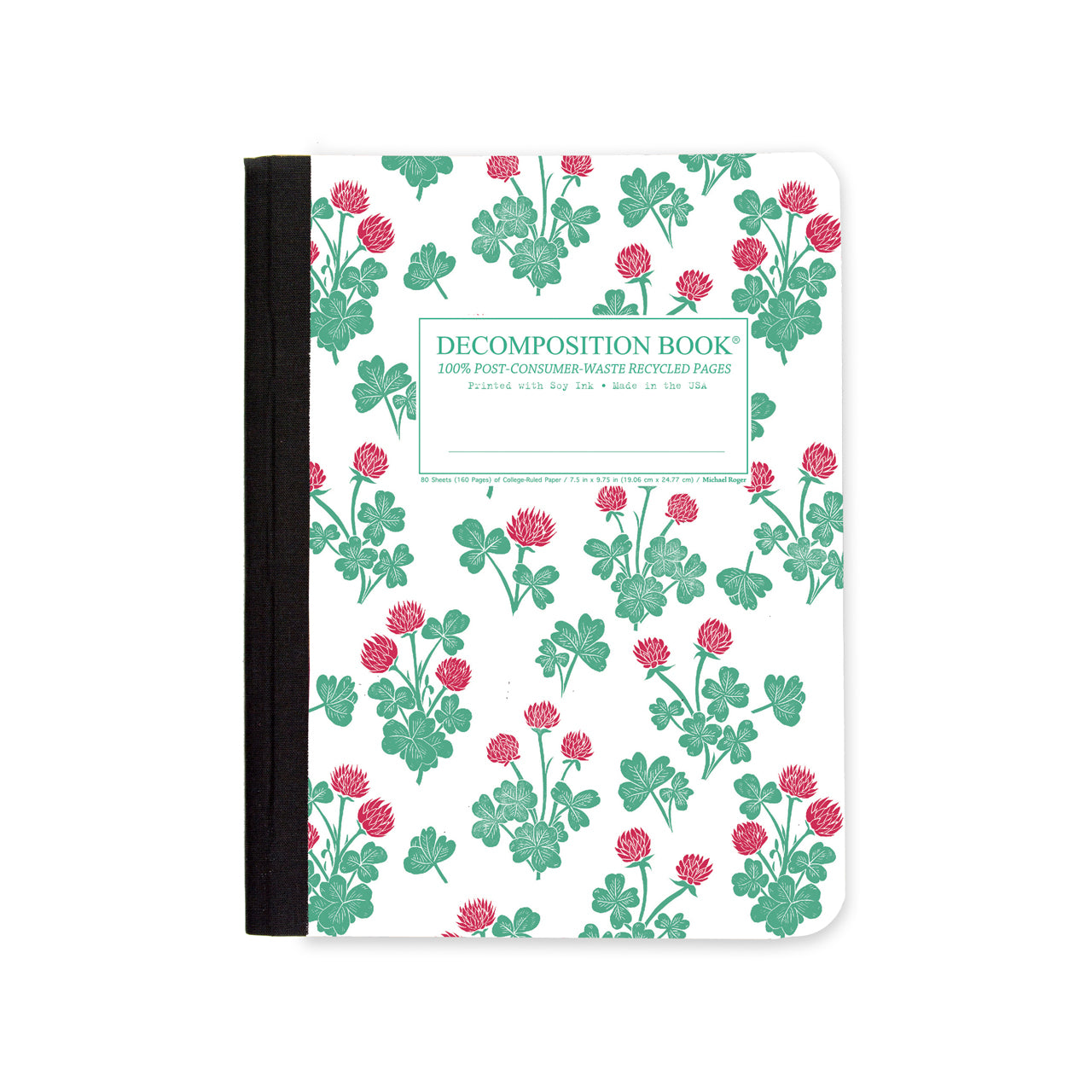 Decomposition - Seconds - Notebook - Ruled - Large - Crimson Clover