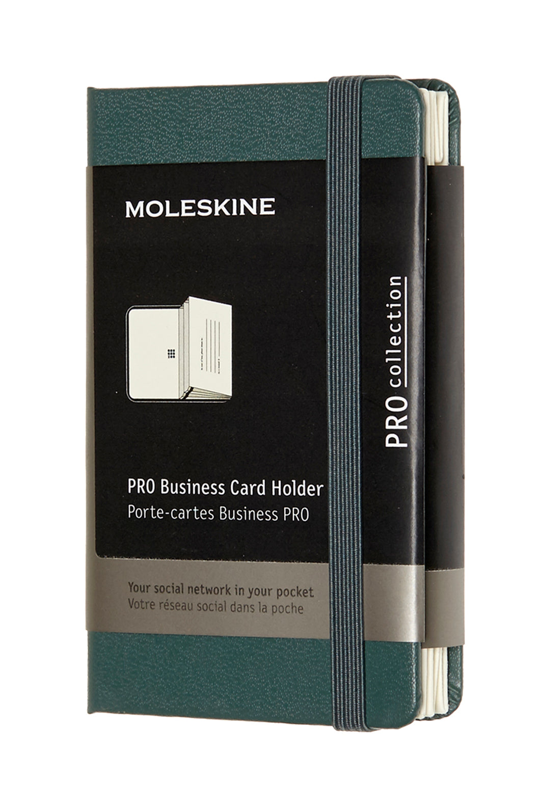 Moleskine - Business Card Holder - Forest Green