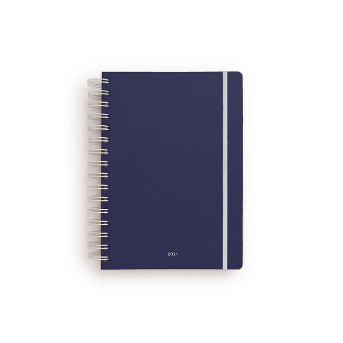 Studio Milligram - Seconds - 2021 Agenda - Weekly - Spiral - A5 - Navy