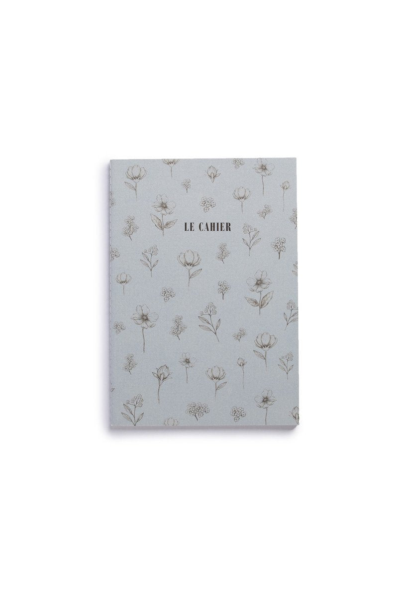 O-Check Design Graphics - Cahier Notebook - Dot Grid - Medium - Floral Blue