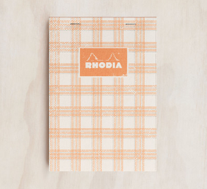 Rhodia - Heritage Notepad - Grid - A5 - Tartan White