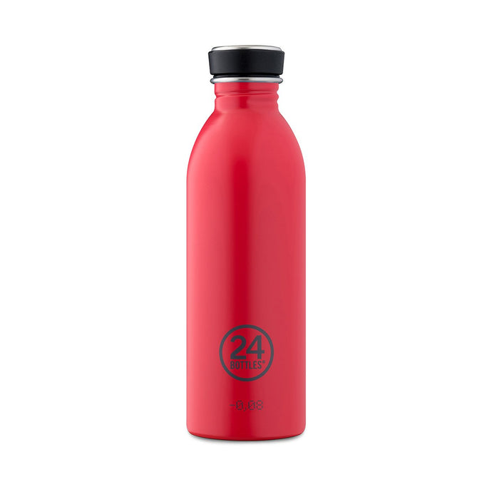 24Bottles - Chromatic Collection - Urban Bottle - Stainless Steel Drink Bottle - 500ml - Hot Red