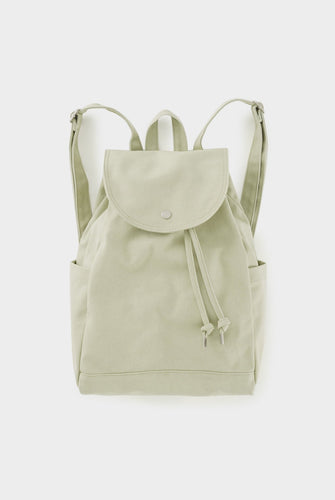 Baggu - Drawstring Cotton Canvas Backpack - Matcha