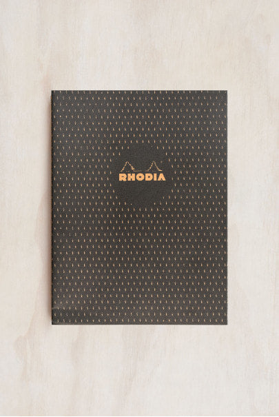 Rhodia - Heritage Notebook - Sewn Spine - Ruled - B5 - Moucheture Black