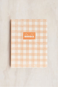 Rhodia - Heritage Notebook - Raw Bind - Grid - B5 - Tartan White