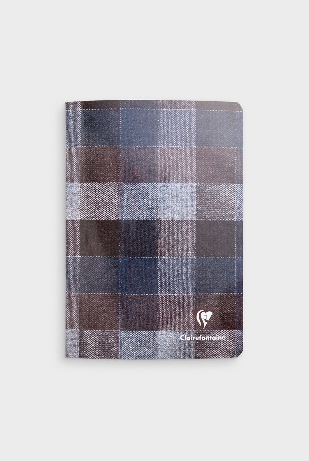 Clairefontaine - Madras Staplebound Notebook - Ruled - A5 - Blue & Brown