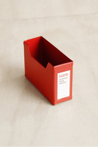 Delfonics - 'Buro' Letter Box - Small - Red
