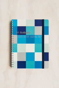 Delfonics - Rollbahn Notebook - Grid - Large (17x21cm) - Block Check Blue
