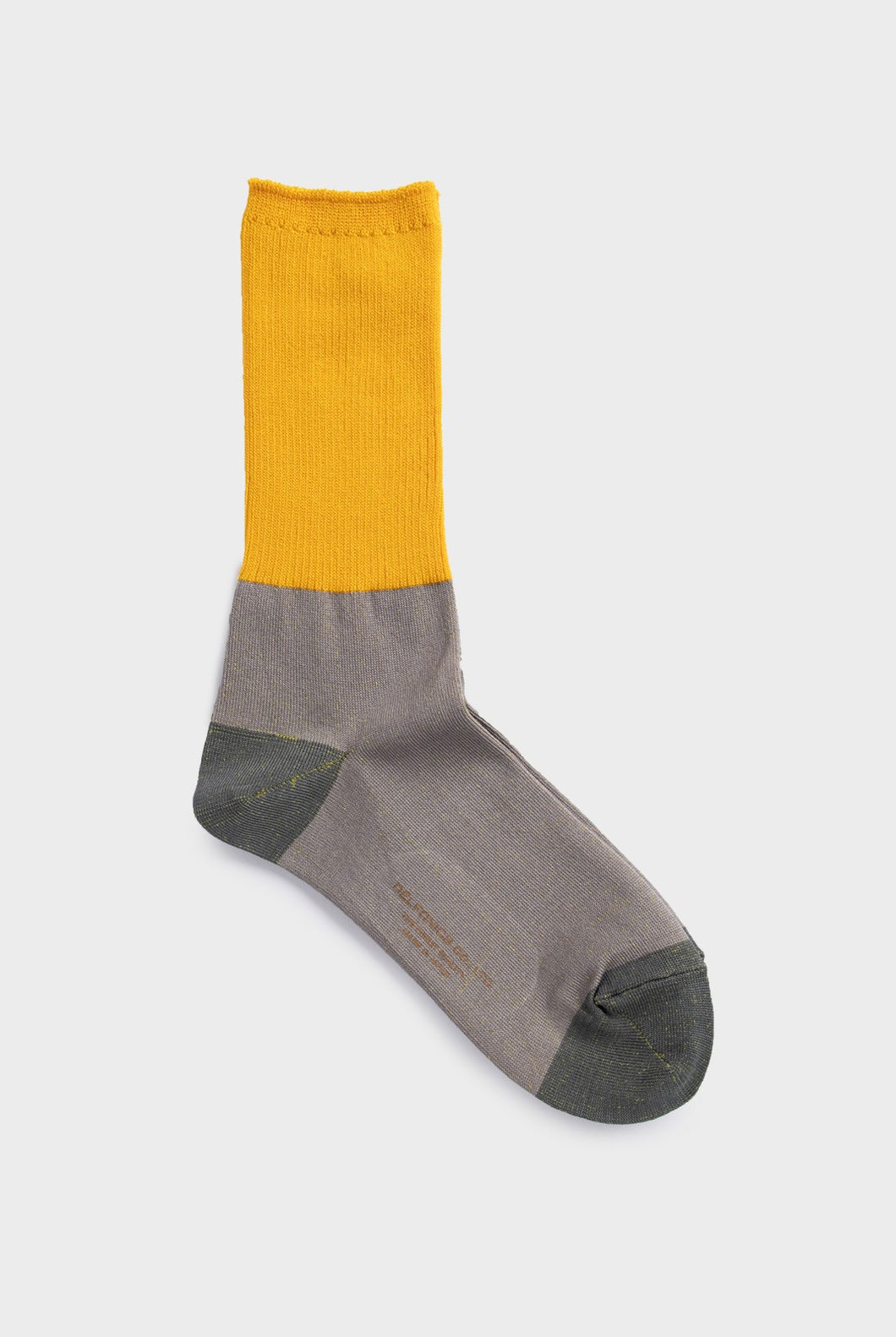 Delfonics - Bicolore Collection Socks - Large - Yellow & Light Grey