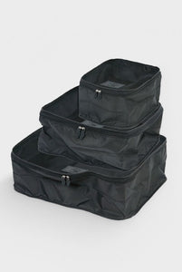 Hightide - 'Nahe' Travel Packing Bag - Set of 3 - Black