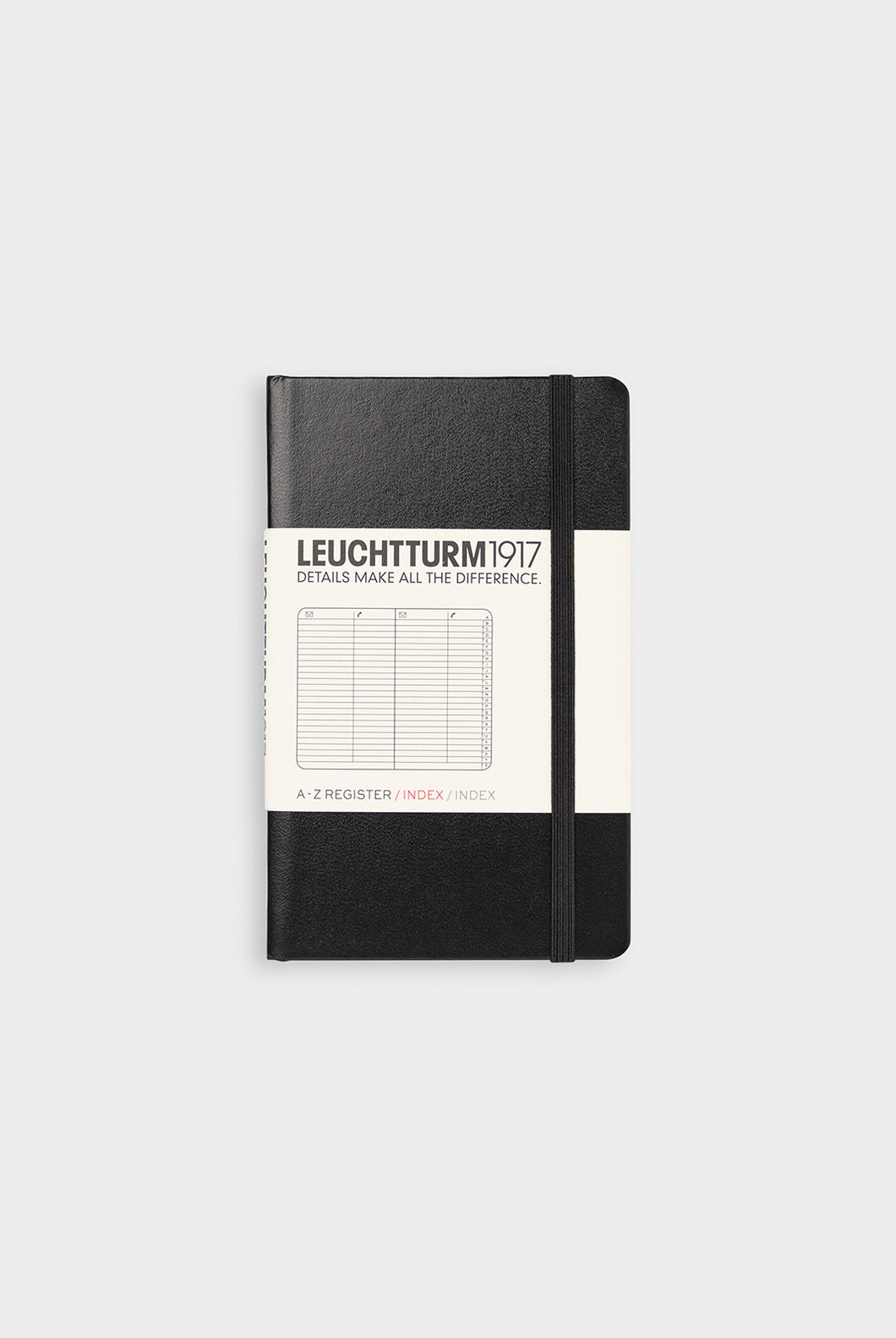 Leuchtturm1917 - Address Book - Pocket (9x15cm) - Hard Cover - Black