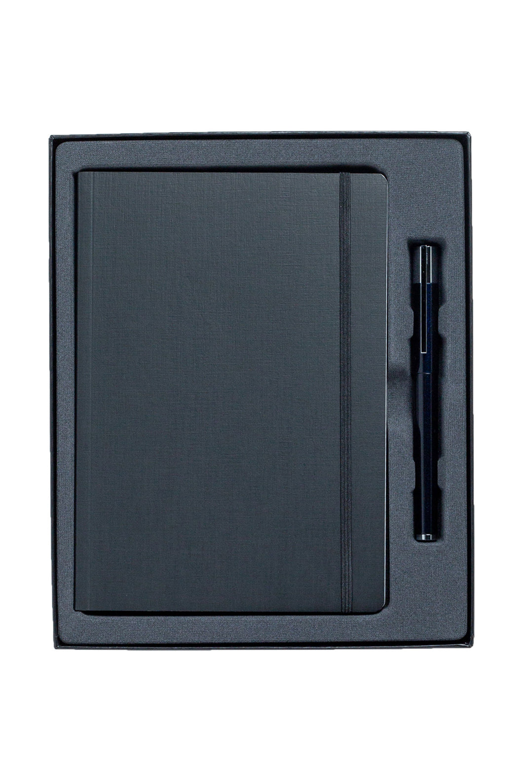 LAMY - Scala Blue Black Fountain Pen with A5 Fabriano Boutique Notebook