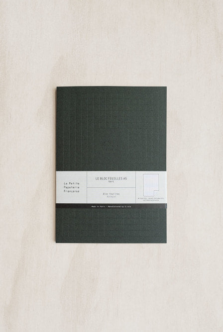 La Petite Papeterie Francaise - The Pleasant Notebook - Dot Grid + Ruled - A5 (16x22.5cm) - Dark Green