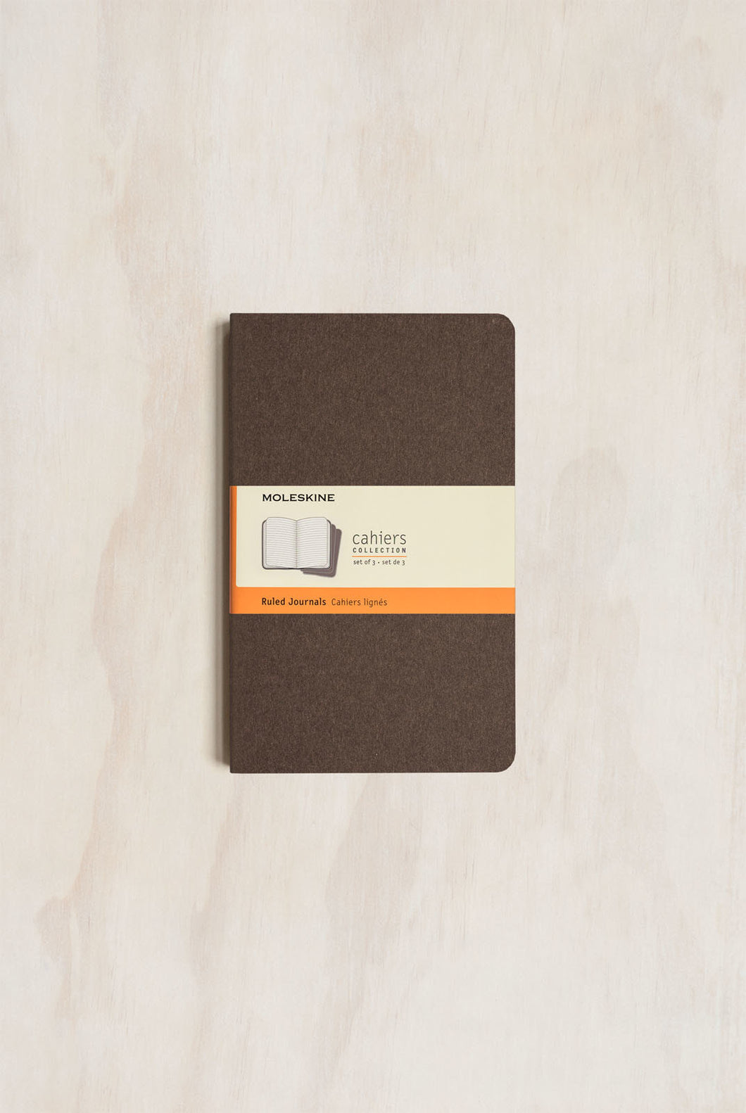 Moleskine - Cahier Notebook - Set of 3 - Large (13x21cm) - Ruled - Coffee Brown