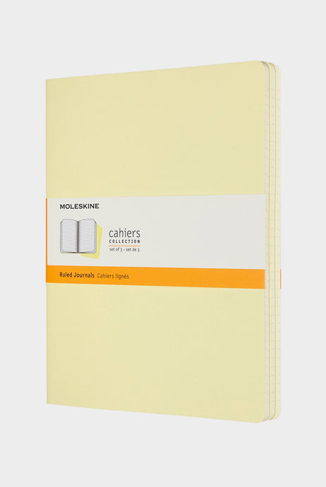 Moleskine - Cahier Journals - Ruled - Extra Large - Tender Yellow