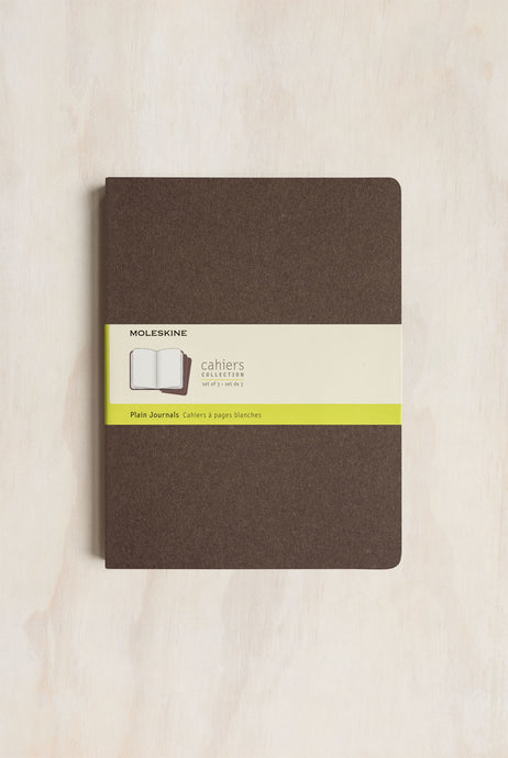 Moleskine - Cahier Notebook - Set of 3 - Extra Large (19x25cm) - Plain - Coffee Brown