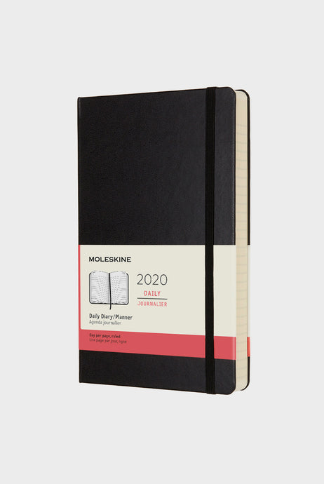 Moleskine - 2020 Hard Cover Diary - Daily - Large - Black